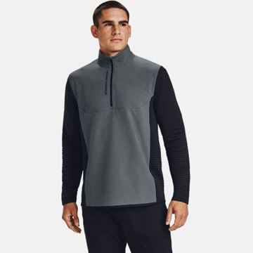 Under Armour EVO Daytona 1/2 Zip - Pitch Grey, Golf Clothing Sweater