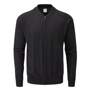 Ping Pax Full Zip Merino - Black, Golf Clothing Sweaters
