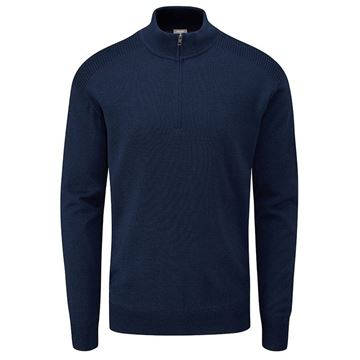 Ping Couper 1/2 Zip - Blue, Golf Clothing Sweaters