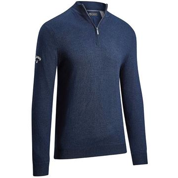 Callaway Windstopper 1/4 Zip Sweater - Peacoat, Golf Clothing Sweaters