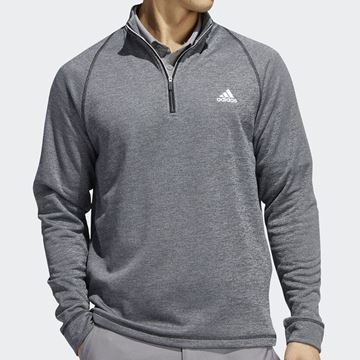 Adidas Mid Weight 1/2 Zip Sweater - Black, Golf Clothing Sweaters