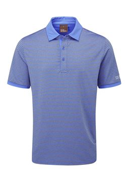 Oscar Jacobson Chester Polo Grey/Mid Blue, Men's apparel