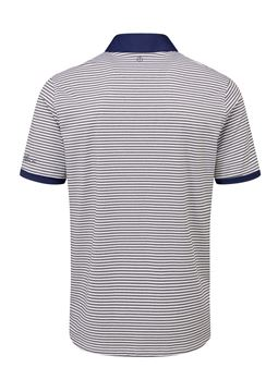 Oscar Jacobson Chester Polo White/Navy, Men's apparel