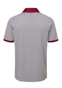 Oscar Jacobson Chester Polo White/Dark Red, Men's apparel