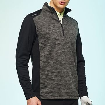Ping Mellor 1/4 Zip Sweater - Asphalt/Black, Golf Clothing Sweater
