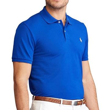 Ralf Lauren Pique Polo - Cruise Royal, Golf Clothing Polo