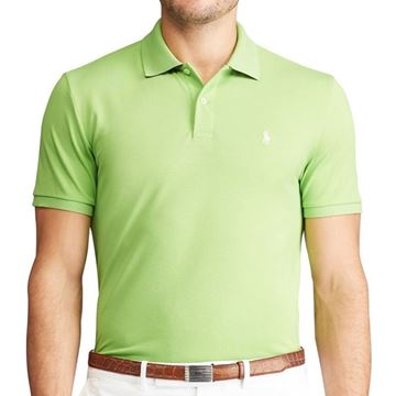 Ralf Lauren Pique Polo - Riviera Green, Golf Clothing Polo