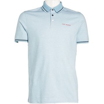 Ted Baker Handie Polo - Light Blue, Golf Clothing Polos
