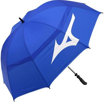 "Mizuno Double Canopy 55"" Umbrella - Blue, Golf Umbrella"