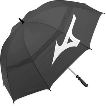 "Mizuno Double Canopy 55"" Umbrella - Black, Golf Umbrella"