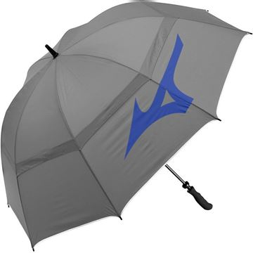 "Mizuno Double Canopy 55"" Umbrella - Grey, Golf Umbrellas"