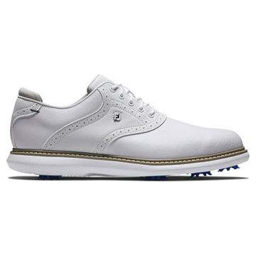 Footjoy Traditions Golf Shoes - White - 57903, Golf Shoes Mens