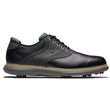 Footjoy Traditions Golf Shoes - Black - 57904, Golf Shoes Mens