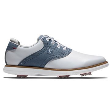 Footjoy Ladies Traditions Golf Shoes - White/Blue - 97907, Golf Shoes Ladies