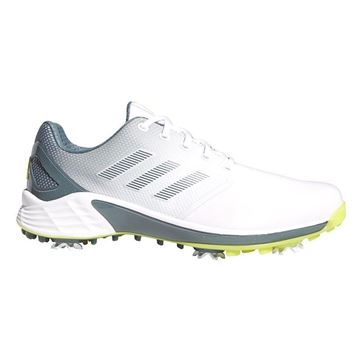 adidas ZG 21 Golf Shoes - White/Acid/Oxide FX6626 , Golf Shoes Mens