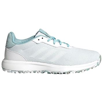 Adidas Ladies S2G Spikeless Golf Shoes - Hazy Sky FX4328, Golf Shoes Ladies