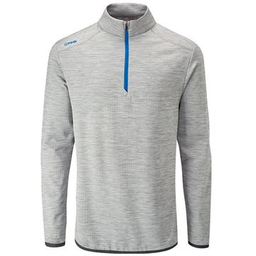 Ping Collection Edison 1/4 Zip Sweater - Silver, Golf Clothing Sweaters