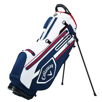 Callaway Chev Dry Stand Bag 2021 - Navy/White/Red