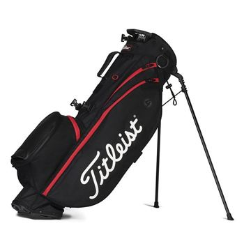 Titleist Players 4 Stand Bag - Black/Black/Red