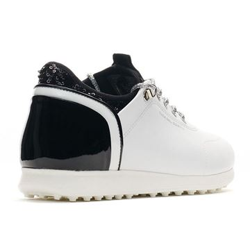Duca Pose Ladies Golf Shoes - White/Black, Golf Shoes Ladies